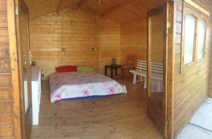 Habitación doble en cabaña