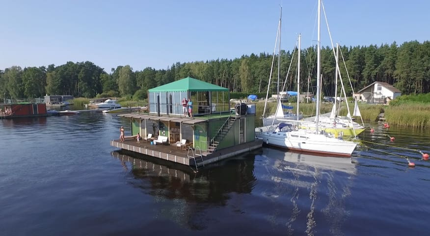 Floating house, Jurmala, Latvia