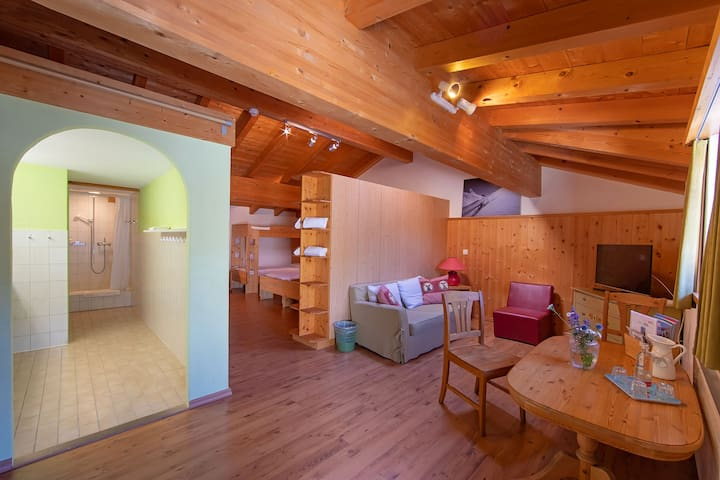 Sport-Lodge Klosters (Klosters), Family room Gotschnablick for 4 persons, 42m2