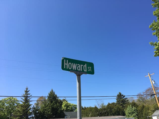 Turn onto Howard street off State Highway 57.