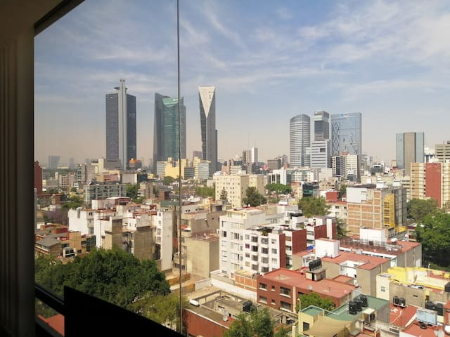 Roma Norte apt with stunning views over Reforma