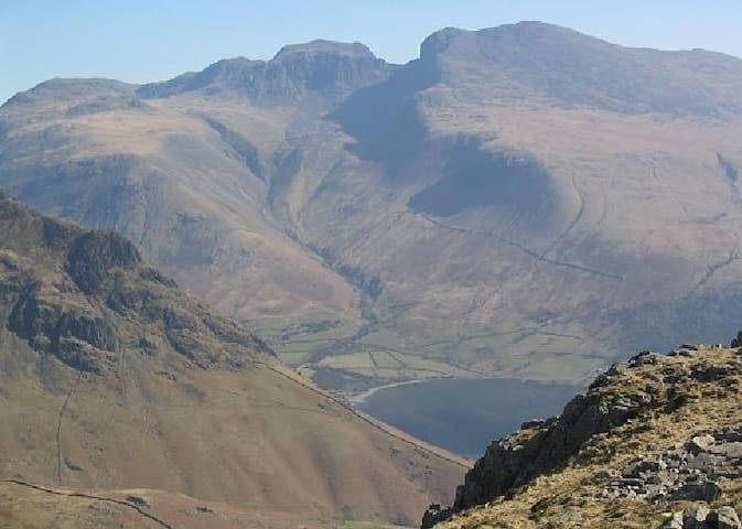 Scafell Pike -England's highest mountain.