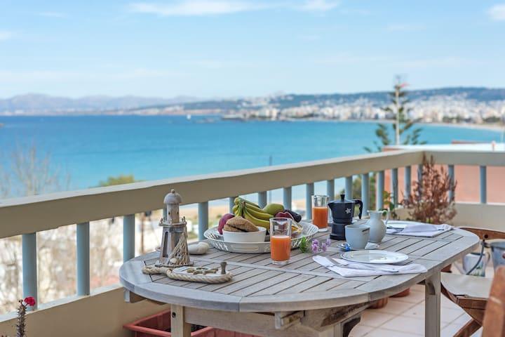 Chryssi Akti Sea View 1 min (100m) from the beach