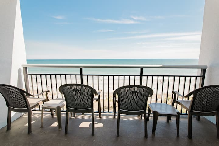 2 BR/2BA Direct Oceanfront on the Boardwalk