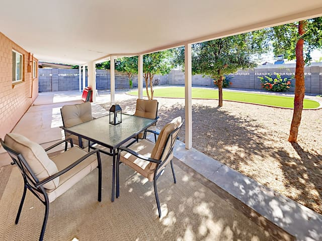 Enjoy the incredible Arizona weather from the privacy of your covered patio.