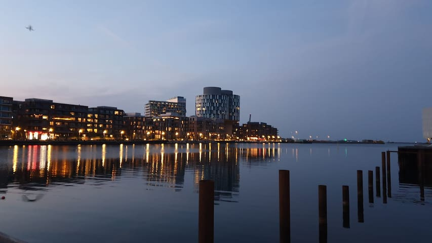 Nordhavn is one of the trendiest areas in the city. Ideal for families and professionals. Hosting UN City and other companies as well as many restaurants, bars, bakeries, cafés and supermarkets