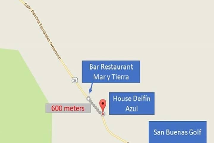 "600 metres from ""Mar y Tierra Restaurant"""
