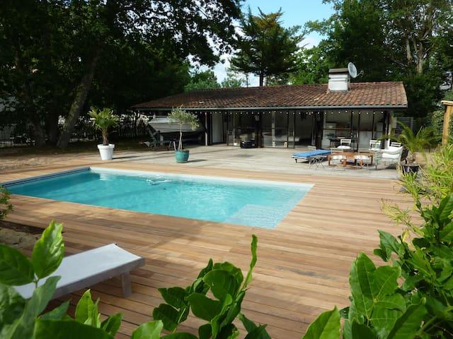 Villa en bois avec piscine - Lege-Cap-Ferret - Villa