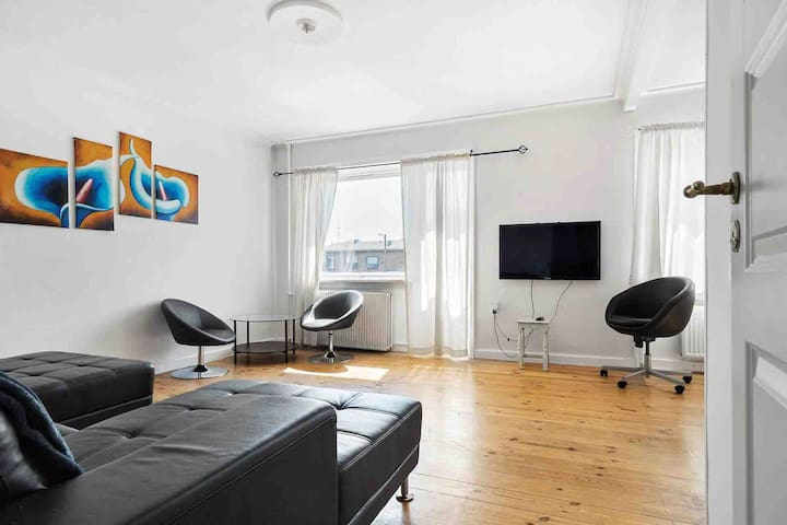 Big and bright apartment 18 min from central city