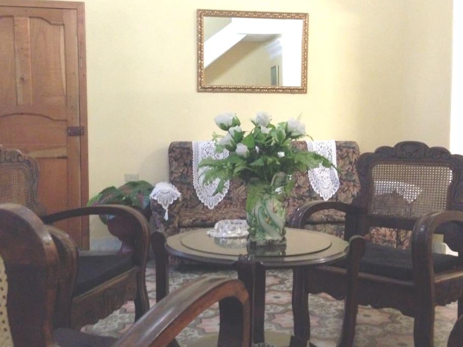 Una mezcla de muebles antiguos y modernos / A mix of antique and modern furniture