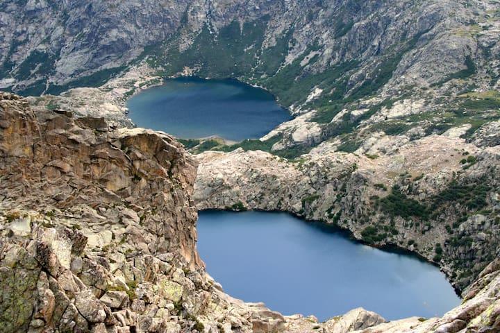 Les lacs de Corté (Melo et Capitello) à 1h30 de route et après une randonnée de niveau facile pour le Melo et moyenne pour le Capitello
