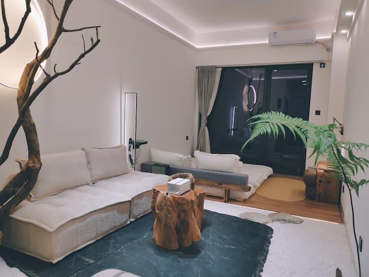 【子由·月下】东葛路青秀万达对面绿地中央广场|高层视野|Max投影|设计师温馨日式庭院|高级智能家居