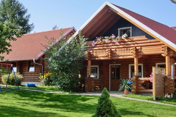 Exclusive holiday log cabin in Dankerode