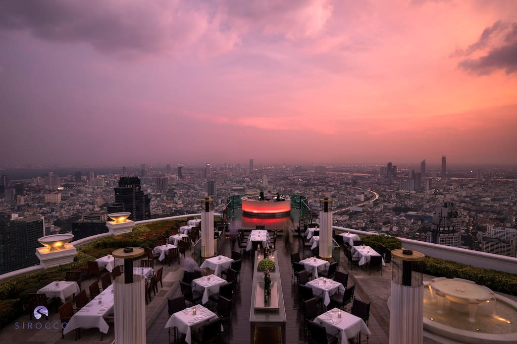 An evening at Sirocco has been considered a fine dining experience ever since the world's highest alfresco restaurant first opened its doors – a distinction that was confirmed when the restaurant received a Perfect 10 from Thailand Tatler for all four categories of Food, Wine, Ambience and Service. Open: 18:00 - 01:00 daily
