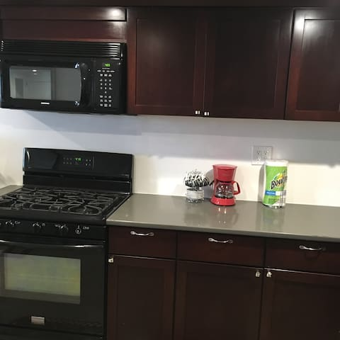 New kitchen with full size appliances