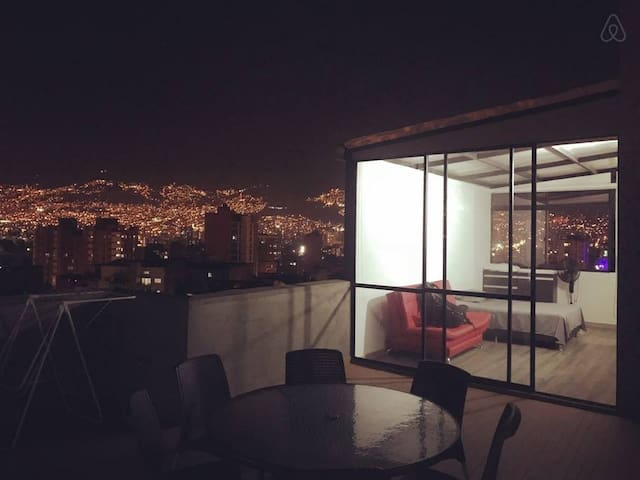 Roof top Studio, private terrace with amazing view