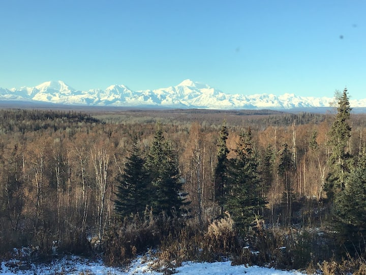 """Talkeetna - """"The Crows Nest"""" -  a view of Denali"""