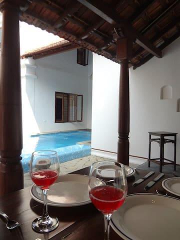 North Goa Heritage villa with swimming pool