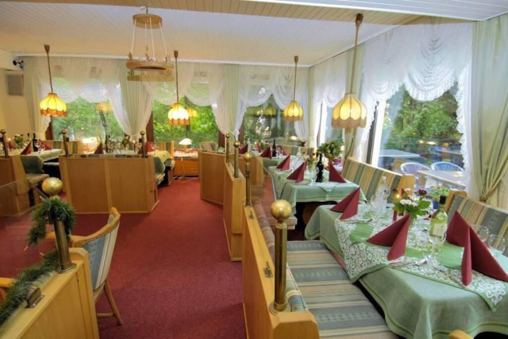 Einer von fünf Caféräumen