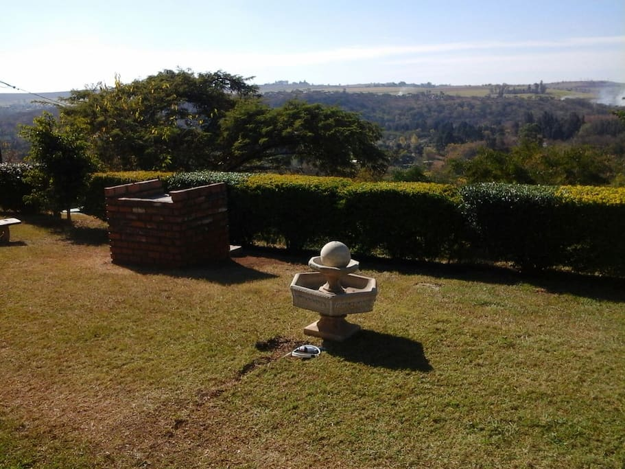 Braai facilities with a view