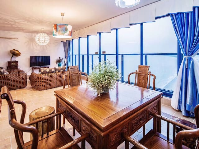 惠州东双月湾&轻奢型&私人酒店度假公寓&一线海景两房、楼王32楼带麻将