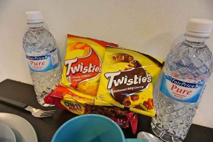 Welcome guest snacks