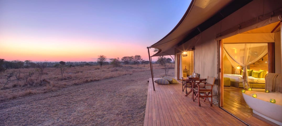 A WALK ON THE WILD SIDE STAYING IN A  LUXURY CAMP