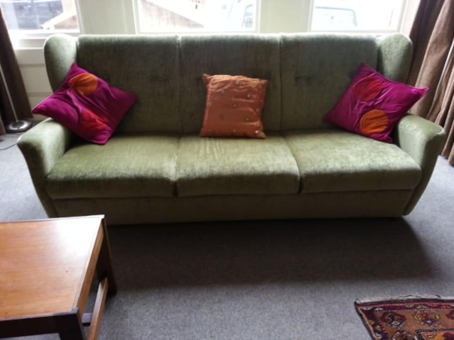 ...with a new click-clack sofa-bed...