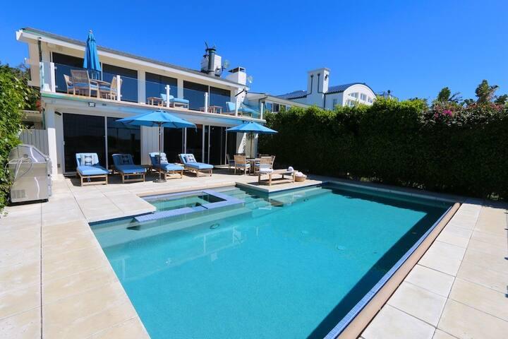 4bd Malibu beach villa with pool