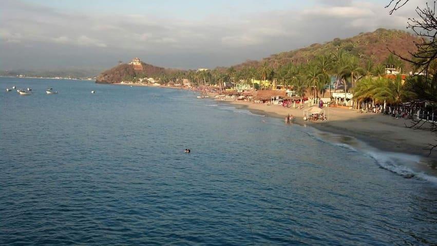 OCEAN FRONT LOS AYALA MEXICO SINGLE  BUNGALOW G/F - Los Ayala