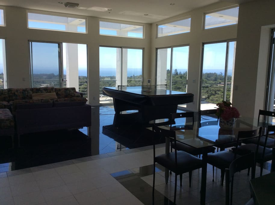 This is a view of the family room looking over the Monterey Bay