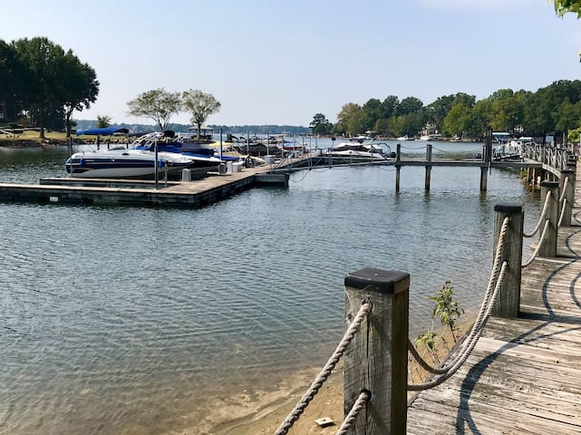 1st Floor Waterfront Lake Norman Condo, with slip!