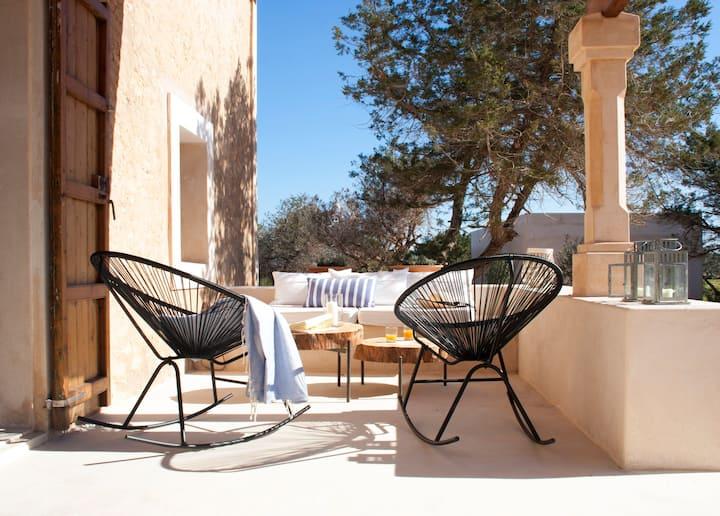 Auténtica casa de vacaciones en Formentera