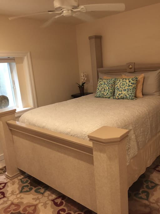 You will want to sleep in, as the bed is extremely comfortable and always made with the finest linens.