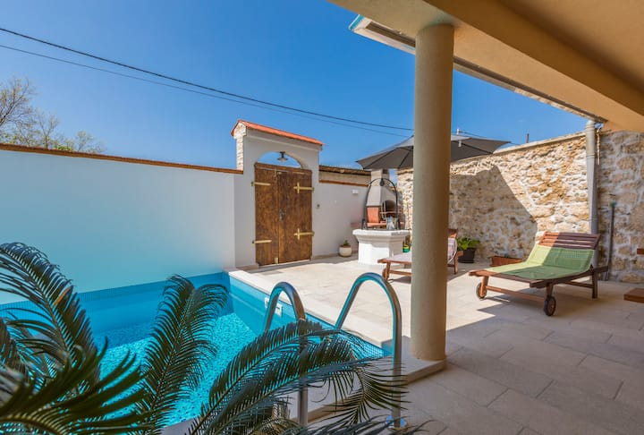 Three Bedroom House, in Tribalj, Outdoor pool