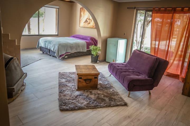 Habitación El Yeso para 2 a 4 con baño privado