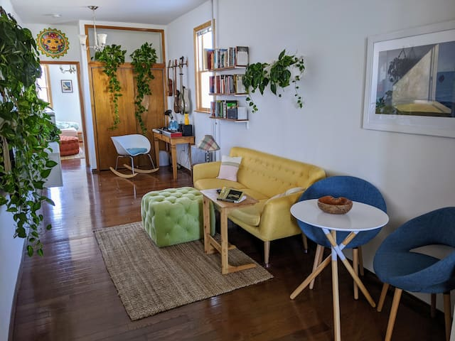 Stylish One Bedroom with Lots of Plants & Light