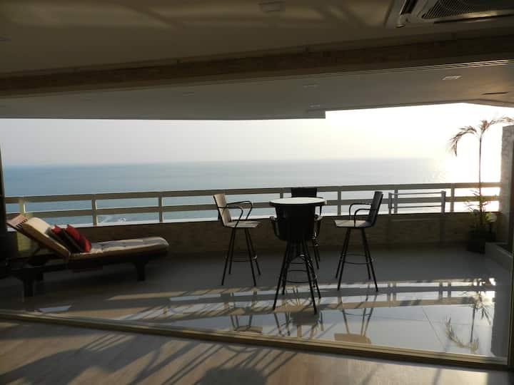 Appartement avec vue frontale sur la mer