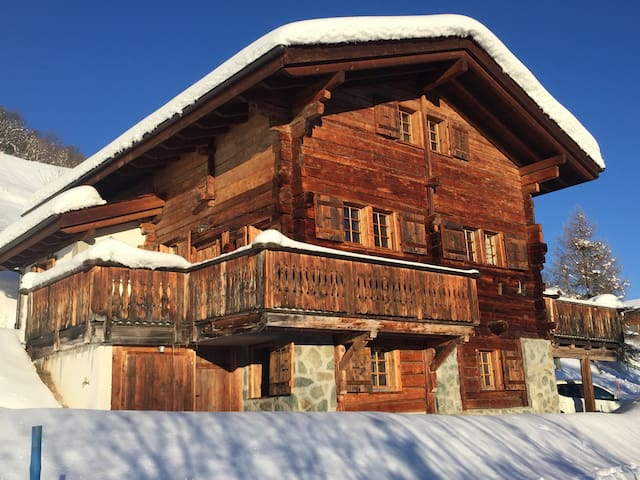 Luxurious old wood style chalet - Heremence - Casa