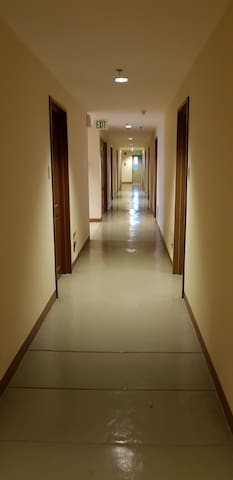Hallway to the room.