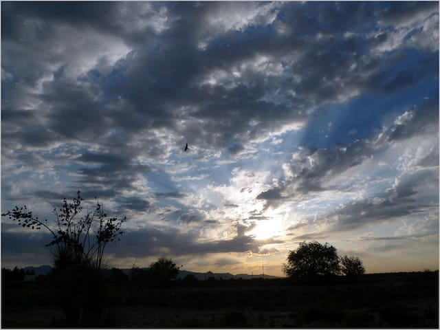 Hacienda on Ranch in New Mexico