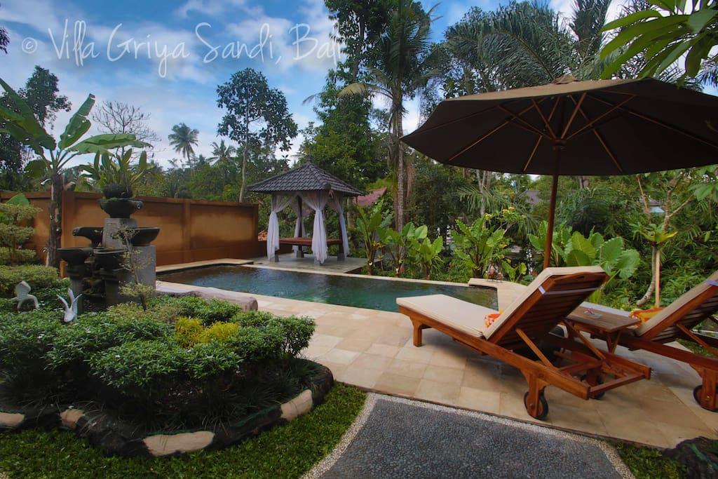 Enjoy your own private pool amidst the jungle ravine