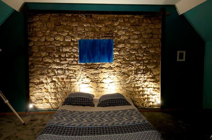 Maison Peyribuès, vaste chambre cosy