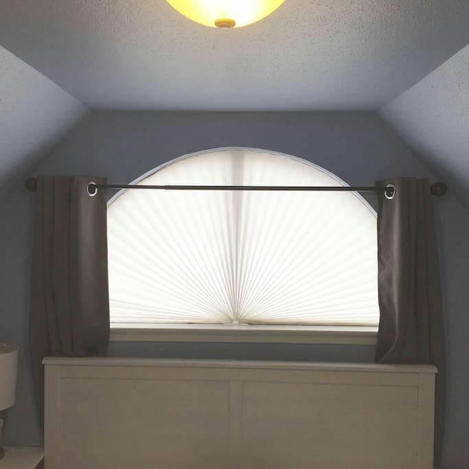 Added opaque curtains to support the previously added shades per customer feedback! ( Cellphone picture )