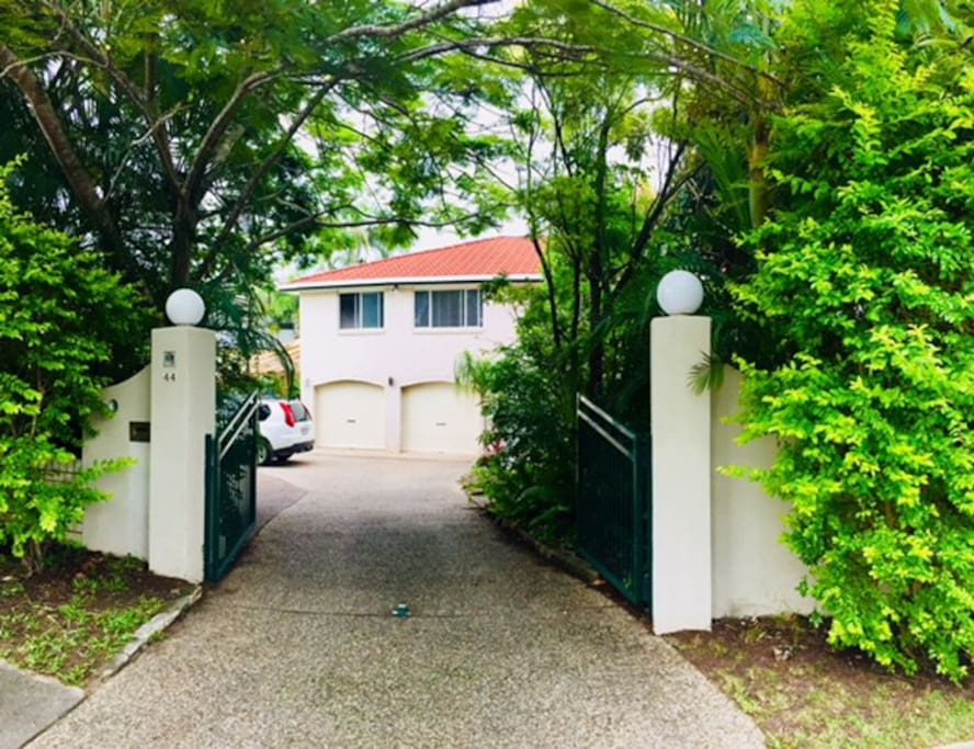 Gated front entrance with secure off street parking.