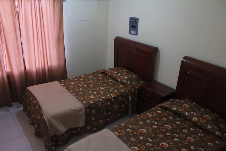 Segunda recámara con camas gemelas