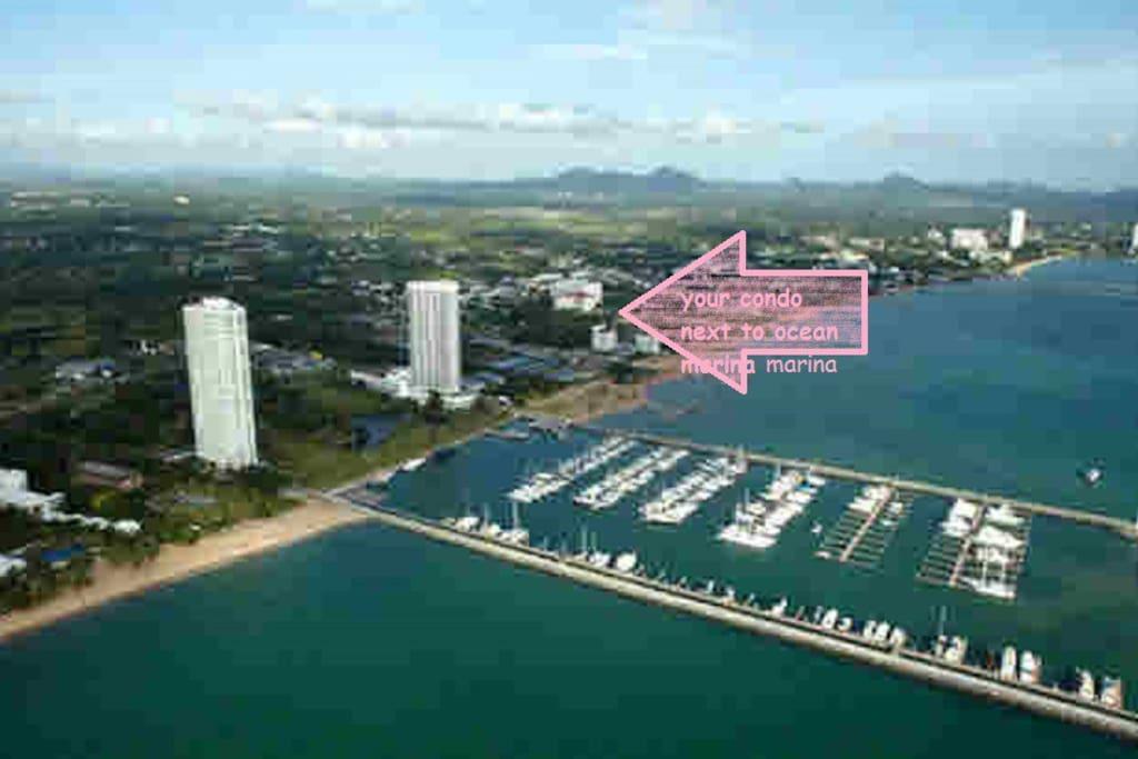 Condo location, next to Ocean Marina and Movenpick resort