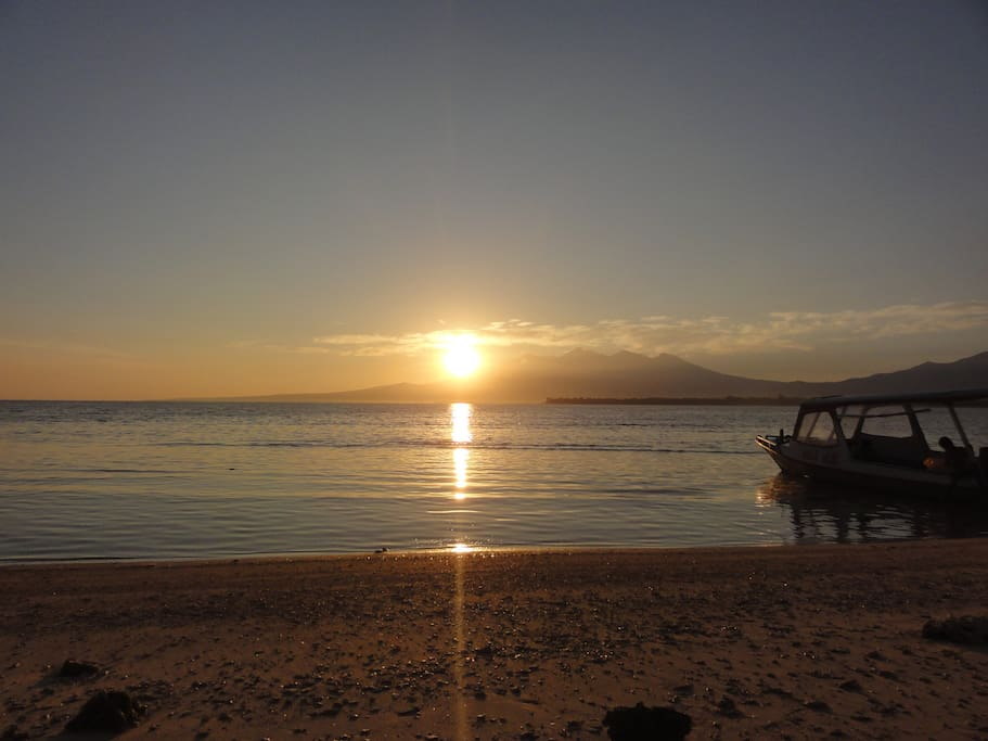 sunrise seen from the east coast Ganjor Villas.