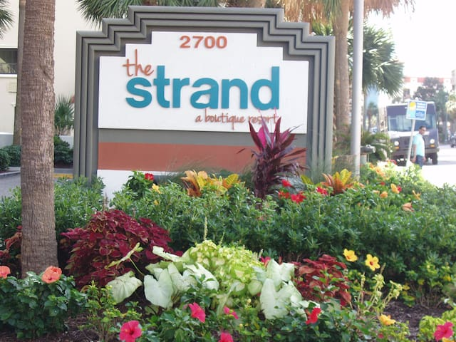 Welcome to The Strand A Boutique Resort at 27th Ave. N., the most popular and central area of Myrtle Beach.