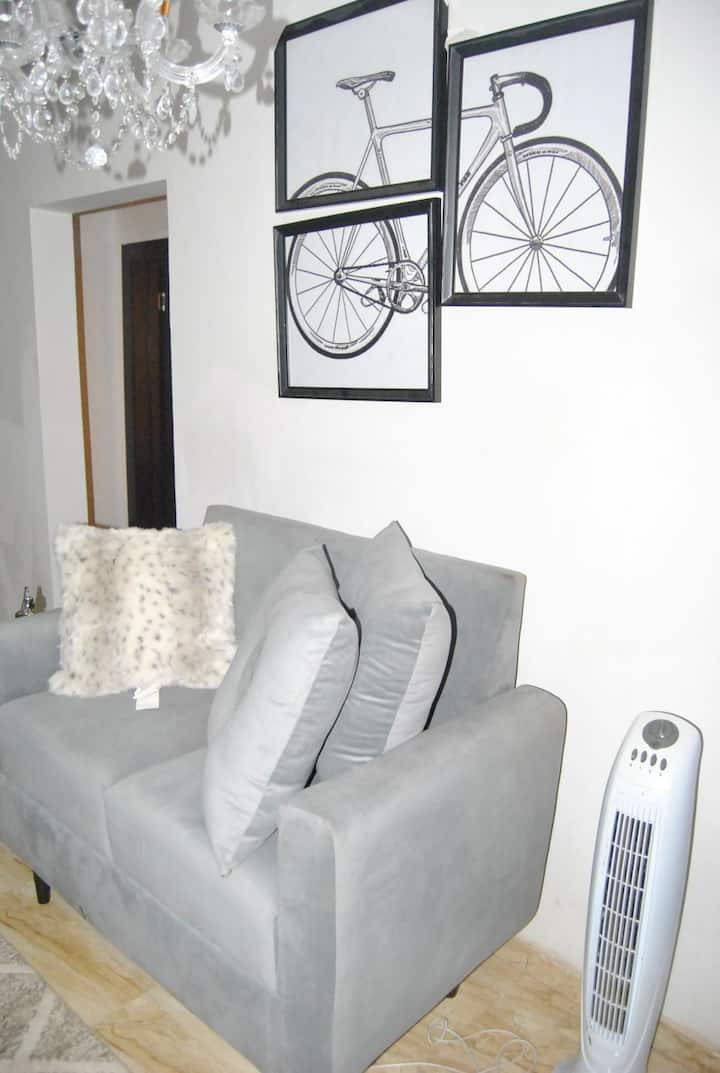A 1 bedroom luxurious apartment with basic ameniti